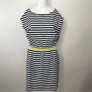 Boden Short Sleeve Striped Dress 8R